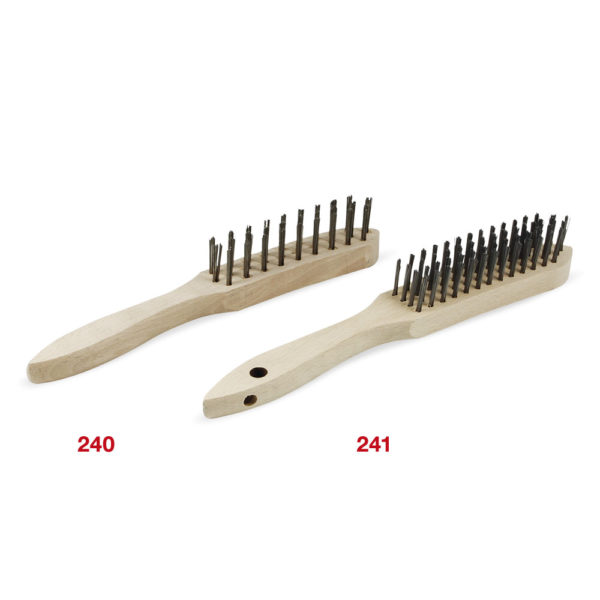 240-241 Steel Hand Brush 3 and 4 Rows