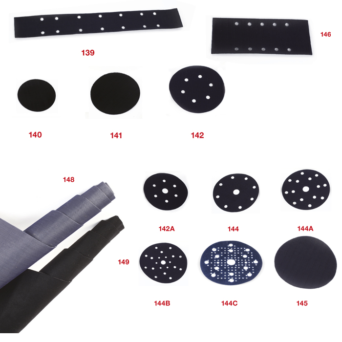 139-149 Adhesive self-gripping adaptors