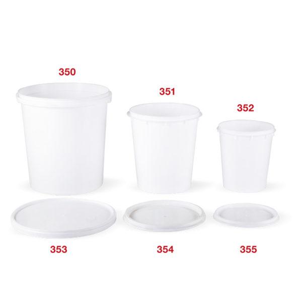 350 - 355 White bucket