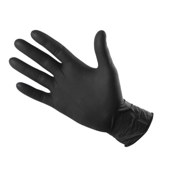 53 Latex gloves, black color