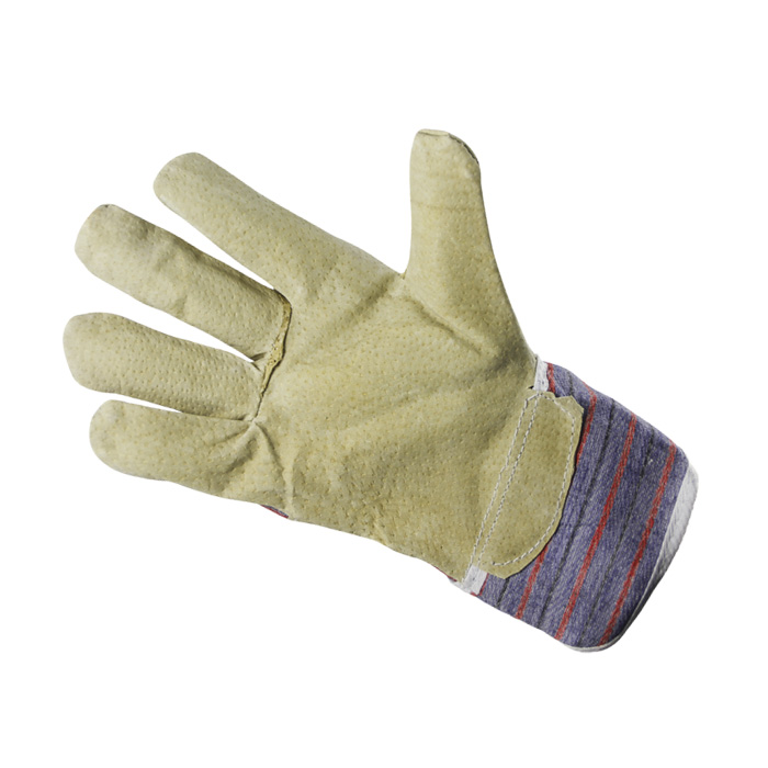 58 Cloth and grain leather glove