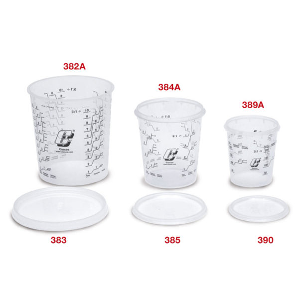 Graduated plastic mixing cup